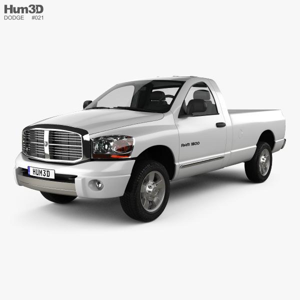 Dodge Ram 1500 Regular Cab Laramie 140-inch Box 2008 3D model