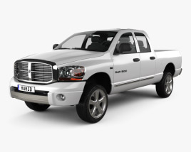 3D model of Dodge Ram 1500 Quad Cab Laramie 140-inch Box 2008