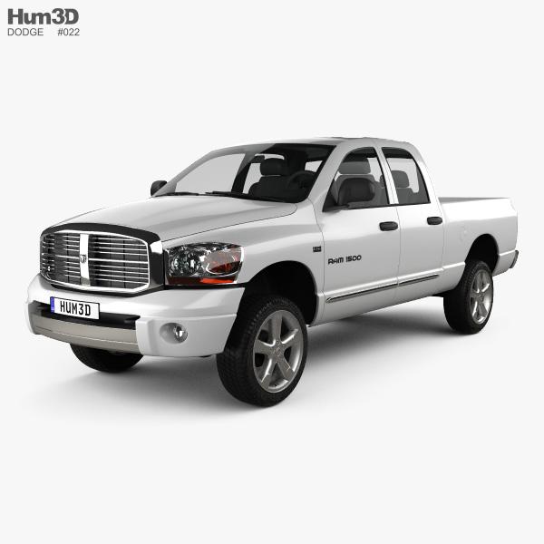 Dodge Ram 1500 Quad Cab Laramie 140-inch Box 2008 3D model