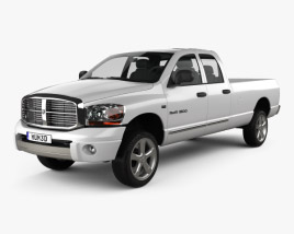3D model of Dodge Ram 1500 Quad Cab Laramie 160-inch Box 2008