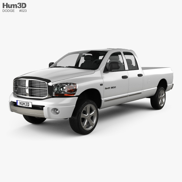 Dodge Ram 1500 Quad Cab Laramie 160-inch Box 2008 3D model