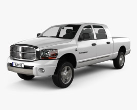 3D model of Dodge Ram 1500 Mega Cab Laramie 160-inch Box 2008