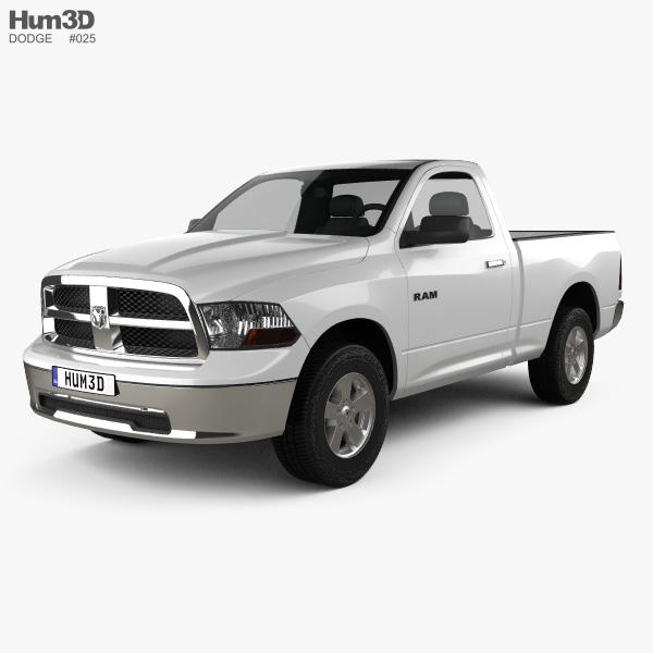Dodge Ram 1500 Regular Cab SLT 6-foot 4-inch Box 2012 3D model
