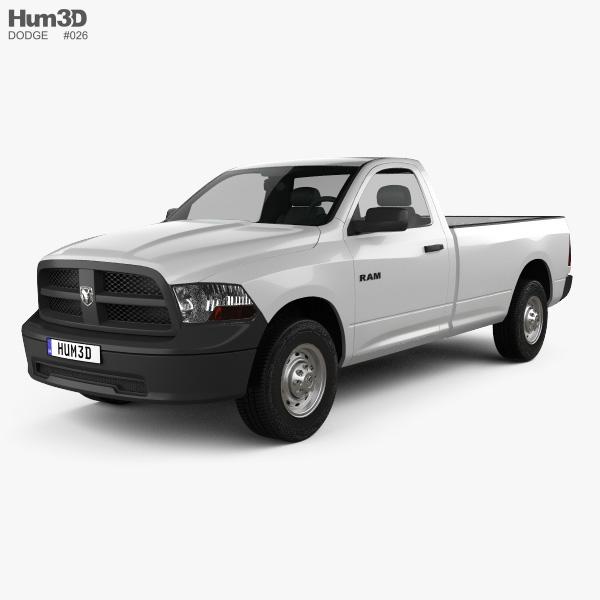 Dodge Ram 1500 Regular Cab ST 8-foot Box 2012 3D model