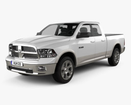 3D model of Dodge Ram 1500 Quad Cab Laramie 6-foot 4-inch Box 2012
