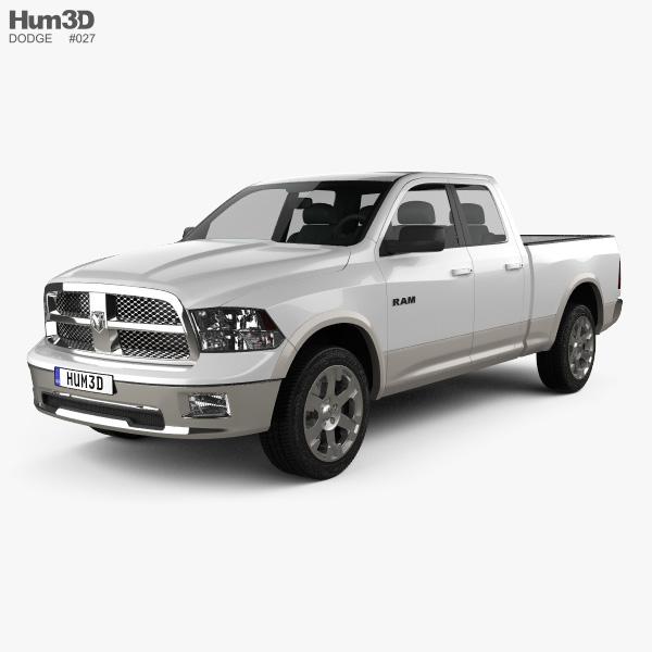 Dodge Ram 1500 Quad Cab Laramie 6-foot 4-inch Box 2012 3D model
