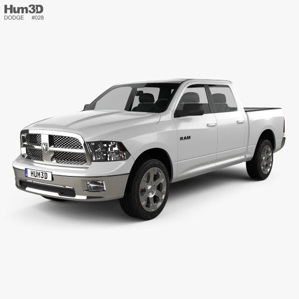 Dodge Ram 1500 Crew Cab Big Horn 5-foot 7-inch Box 2012 3D model