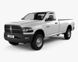 3D model of Dodge Ram 2500 Regular Cab ST 8-foot Box 2012