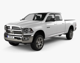 3D model of Dodge Ram 2500 Crew Cab Big Horn 6-foot 4-inch Box 2012