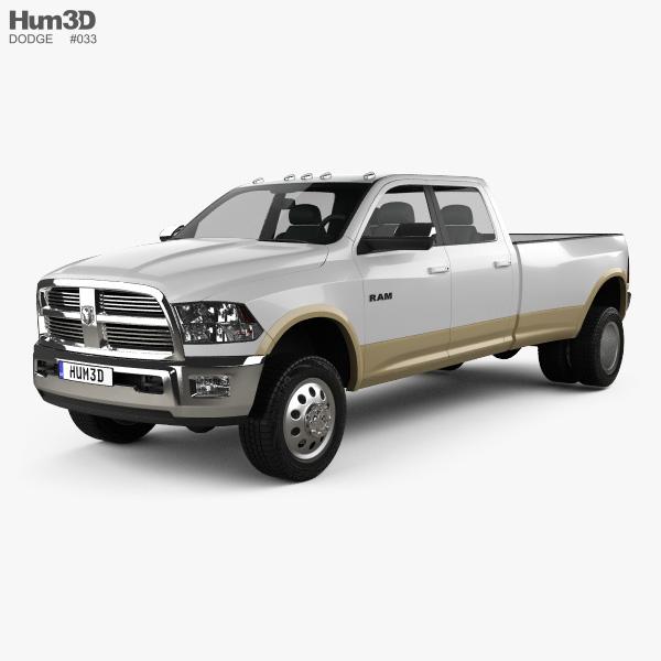 Dodge Ram 3500 Crew Cab Dually Laramie 8-foot Box 2012 3D model
