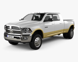 3D model of Dodge Ram 3500 Mega Cab Dually Laramie 6-foot 4-inch Box 2012