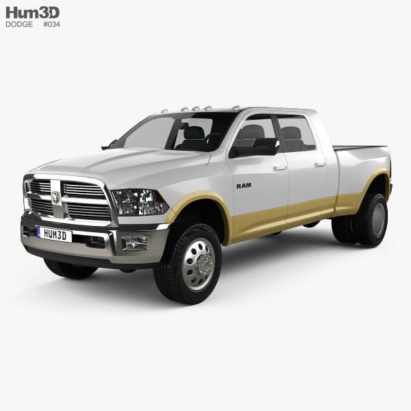 Dodge Ram 3500 Mega Cab Dually Laramie 6-foot 4-inch Box 2012 3D model