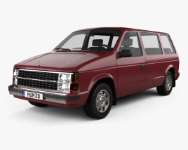 3D model of Dodge Caravan 1984