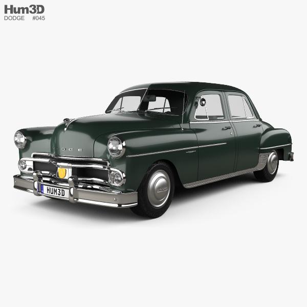 Dodge Coronet sedan 1950 3D model
