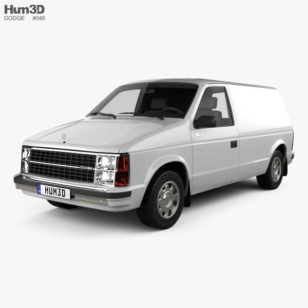 3D model of Dodge Mini Ram Van 1984