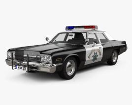 3D model of Dodge Monaco Police 1974