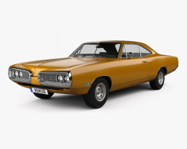 3D model of Dodge Coronet hardtop coupe 1970