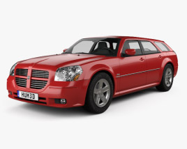 3D model of Dodge Magnum RT 2004