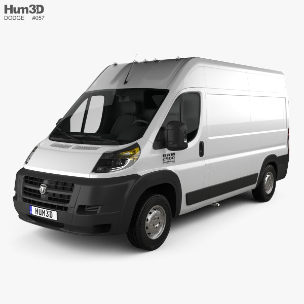 3D model of Dodge Ram ProMaster Cargo Van L2H2 2013