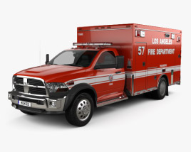 3D model of Dodge Ram LAFD Paramedic 2014