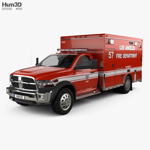 Dodge Ram LAFD Paramedic 2014 3D model