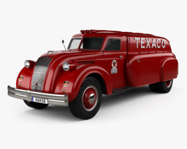 3D model of Dodge Airflow Tank Truck 1938