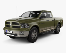 3D model of Dodge RAM 1500 Mossy Oak Edition 2014