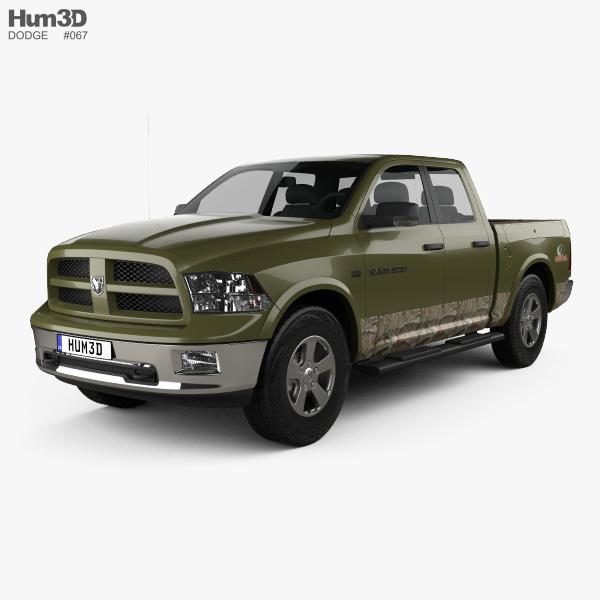 Dodge RAM 1500 Mossy Oak Edition 2014 3D model