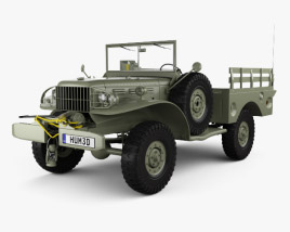 3D model of Dodge WC-52 (T214) 1942