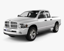 3D model of Dodge Ram 1500 Quad Cab SLT 2002