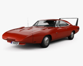 3D model of Dodge Charger Daytona Hemi 1969