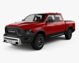 3D model of Dodge Ram 1500 Rebel 2015
