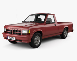 3D model of Dodge Dakota Regular Cab 1991