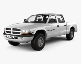 3D model of Dodge Dakota Sport Quad Cab 2000