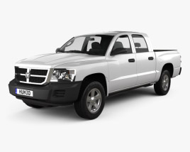 3D model of Dodge Dakota Crew Cab 2007