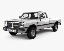 3D model of Dodge Ram Club Cab 1991