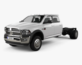 3D model of Dodge Ram Crew Cab Chassis L2 Laramie 2012