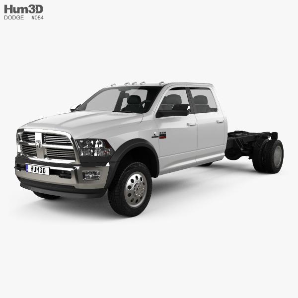 Dodge Ram Crew Cab Chassis L2 Laramie 2012 3D model