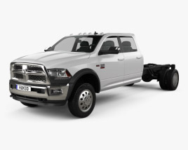 3D model of Dodge Ram Crew Cab Chassis L2 Laramie 2016