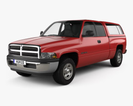 3D model of Dodge Ram 1500 Club Cab ST 1999