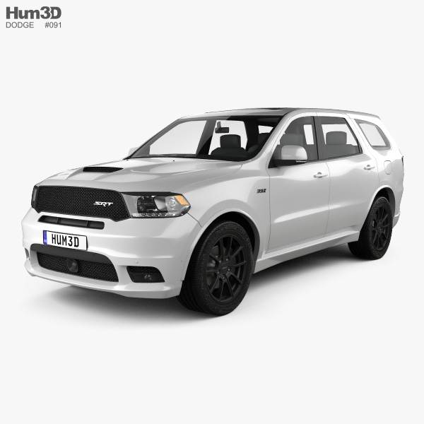 3D model of Dodge Durango SRT 2017