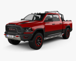 3D model of Dodge Ram 1500 Rebel TRX 2017