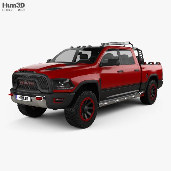 Dodge Ram 1500 Rebel TRX 2017 3D model