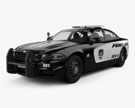 3D model of Dodge Charger Pursuit 2015