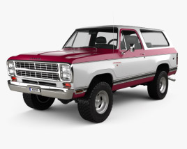3D model of Dodge Ramcharger 1979