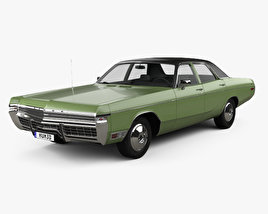 Dodge Monaco sedan 1972 3D model