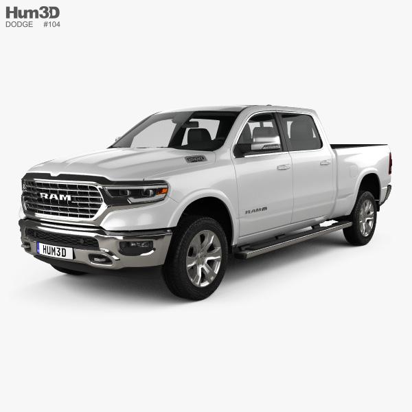Dodge Ram 1500 Crew Cab Laramie Longhorn 6-foot 4-inch Box 2019 3D model