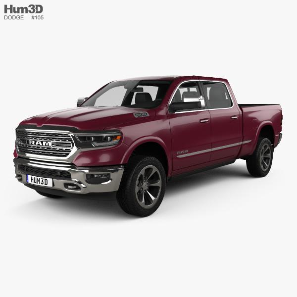 Dodge Ram 1500 Crew Cab 6-foot 4-inch Box Limited 2019 3D model