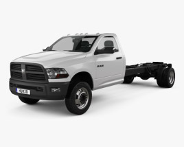 3D model of Dodge Ram 5500 Regular Cab Chassis L4 2012