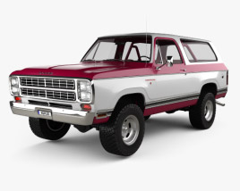 3D model of Dodge Ramcharger with HQ interior 1979